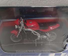 Triumph  - 955 Speed Triple red/black - 1:24 - Magazine Models - 4110106 - mag4110106 | Toms Modelautos