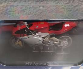 MV Agusta  - 750 F4 silver/red - 1:24 - Magazine Models - 4110102 - mag4110102 | Toms Modelautos