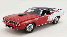 Plymouth  - Hemi Cuda 1971 red/white/black - 1:18 - Acme Diecast - 1806121 - acme1806121 | Toms Modelautos