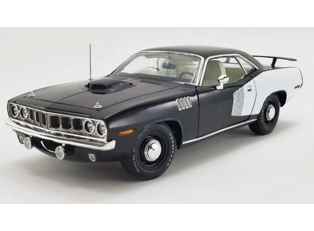 Plymouth | Hemi Cuda 1971 Black/white | 1:18 | Acme ...