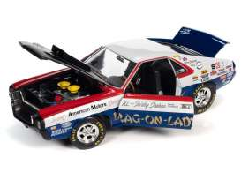 AMC  - AMX S/S 1969 red/white/blue/black - 1:18 - Auto World - 267 - AW267 | Toms Modelautos