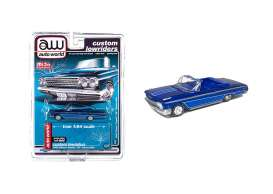 Chevrolet  - Impala SS convertible 1962 candy blue - 1:64 - Auto World - CP7662 - AWCP7662 | Toms Modelautos