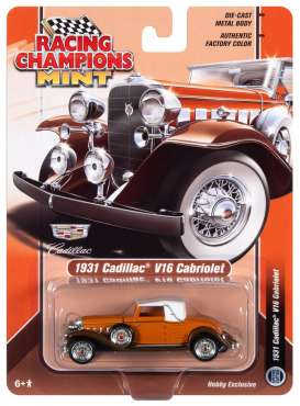 Cadillac  - Cabriolet 1931 orange/brown - 1:64 - Racing Champions - RCSP015 - RCSP015 | Tom's Modelauto's