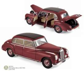 Mercedes Benz  - 300 1955 dark red - 1:18 - Norev - 183705 - nor183705 | Toms Modelautos
