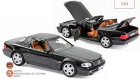 Mercedes Benz  - SL 500 1990 blue - 1:18 - Norev - 183750 - nor183750 | Toms Modelautos