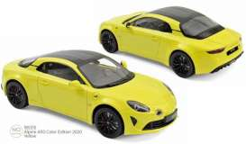 Alpine Renault - A110 2020 yellow - 1:18 - Norev - 185315 - nor185315 | Toms Modelautos