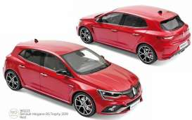 Renault  - Megane RS 2019 red - 1:18 - Norev - 185223 - nor185223 | Toms Modelautos