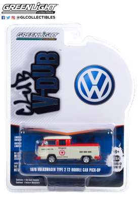 Volkswagen  - T2 Type 2 1976 grey/red - 1:64 - GreenLight - 36020D - gl36020D | Toms Modelautos