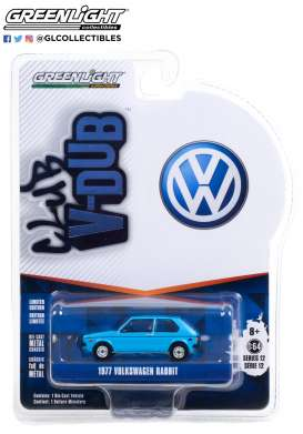 Volkswagen  - Rabbit 1977 blue - 1:64 - GreenLight - 36020E - gl36020E | Toms Modelautos