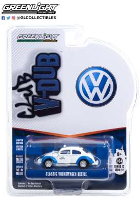 Volkswagen  - Beetle white/blue - 1:64 - GreenLight - 36020F - gl36020F | Toms Modelautos