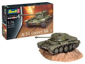 Military Vehicles  - A-34 Comet Mk.1  - 1:76 - Revell - Germany - 03317 - revell03317 | Toms Modelautos