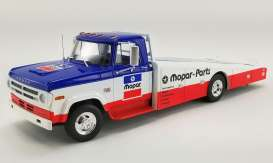 Dodge  - D300 Ramp Truck 1970 blue/white/red - 1:18 - Acme Diecast - 1801903 - acme1801903 | Toms Modelautos