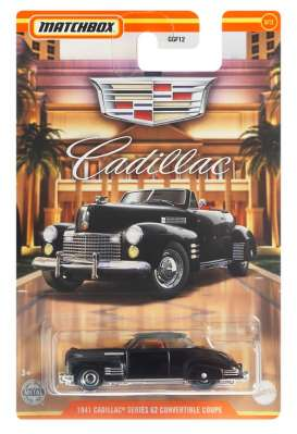 Cadillac  - series 62 convertible 1941 black - 1:64 - Matchbox - GWG99 - MBGWG99 | Toms Modelautos