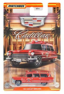 Cadillac  - Ambulance 1963 red - 1:64 - Matchbox - GWH00 - MBGWH00 | Toms Modelautos