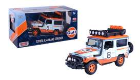 Toyota  - FJ40 1974 light blue/orange - 1:24 - Motor Max - 79658 - mmax79658 | Toms Modelautos