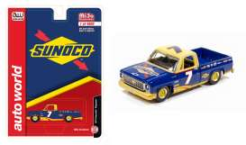 Chevrolet  - Cheyenne pick-up 1973 blue/yellow - 1:64 - Auto World - CP7671 - AWCP7671 | Toms Modelautos