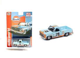 Chevrolet  - Cheyenne *Gulf* 1973 light blue/orange - 1:64 - Auto World - CP7670 - AWCP7670 | Toms Modelautos