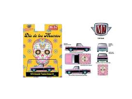 Chevrolet  - Custom Deluxe 10 1973 pink/black - 1:64 - M2 Machines - 32500MJS - M2-32500MJS31 | Toms Modelautos