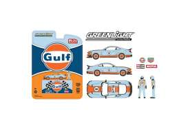 Ford  - Mustang Mach I  2021 light blue/orange - 1:64 - GreenLight - 51377 - gl51377 | Toms Modelautos