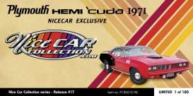 Plymouth  - Hemi Cuda 1971 red/black - 1:18 - Acme Diecast - 1806121NC - acme1806121NC | Toms Modelautos