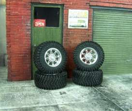 Rims & tires Wheels & tires - 1:24 - Scale Production - SPRF24148 | Toms Modelautos
