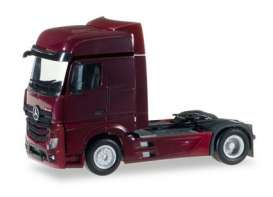 Mercedes Benz  - Actros red - 1:87 - Herpa - 159500-007 - herpa159500-007 | Toms Modelautos