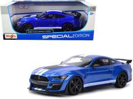 Ford  - Shelby blue/white - 1:18 - Maisto - 31388B - mai31388b | Toms Modelautos