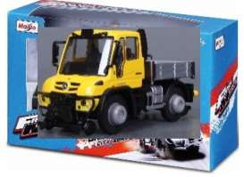 Mercedes Benz Unimog - yellow/grey - 1:64 - Maisto - 21238-19143 - mai21238-19143 | Toms Modelautos