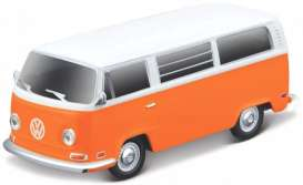 Volkswagen  - T2 Type 2 orange/white - 1:64 - Maisto - 19123 - mai19123 | Toms Modelautos