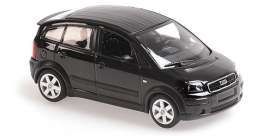 Audi  - A2 2000 black - 1:43 - Maxichamps - 940019001 - mc940019001 | Toms Modelautos