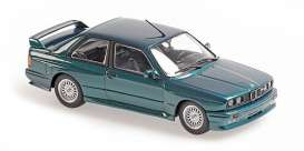 BMW  - M3  1987 green - 1:43 - Maxichamps - 940020304 - mc940020304 | Toms Modelautos