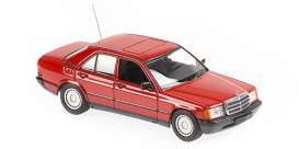 Mercedes Benz  - 190E 1984 red - 1:43 - Maxichamps - 940034102 - mc940034102 | Toms Modelautos