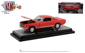 Ford  - Mustang 1965 red/white/black - 1:24 - M2 Machines - 40300-80 - M2-40300-80A | Toms Modelautos