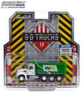 Mack  - Granite 2020 white/green - 1:64 - GreenLight - 45120B - gl45120B | Toms Modelautos