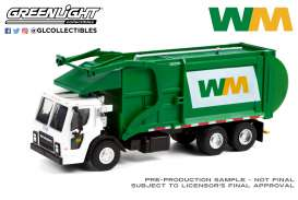 Mack  - LR Refuse 2020 white/green - 1:64 - GreenLight - 45120C - gl45120C | Toms Modelautos