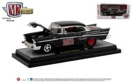 Chevrolet  - 210 1957 black/red - 1:24 - M2 Machines - 40300-80B - M2-40300-80B | Toms Modelautos