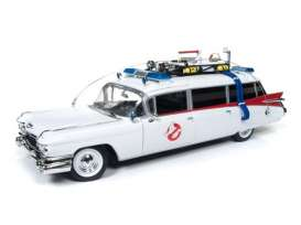 Cadillac  - Ambulance *Ghostbusters* 1959 white/red - 1:21 - Auto World - SS118 - AWSS118 | Toms Modelautos