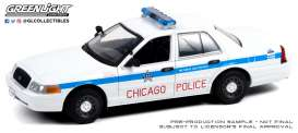 Ford  - Crown Victoria 2008 white/blue - 1:24 - GreenLight - 85533 - gl85533 | Toms Modelautos