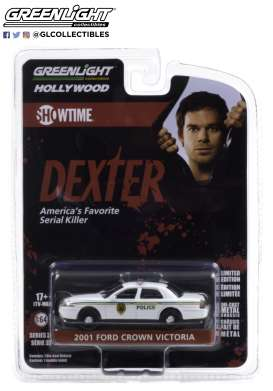 Ford  - Crown Victoria Police Intercep 2001 white - 1:64 - GreenLight - 44920B - gl44920B | Toms Modelautos