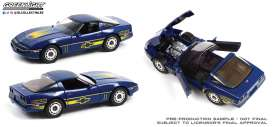 Chevrolet  - Corvette C4 1988 blue/yellow - 1:18 - GreenLight - 13597 - gl13597 | Toms Modelautos