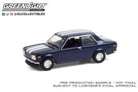 Datsun  - 510  1971 blue/white - 1:64 - GreenLight - 47070C - gl47070C | Toms Modelautos