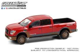 Nissan  - Titan XD 4X 2019 red - 1:64 - GreenLight - 47070E - gl47070E | Toms Modelautos
