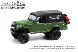 Jeep  - Jeepster Commando 1968 dark green - 1:64 - GreenLight - 35190A - gl35190A | Toms Modelautos