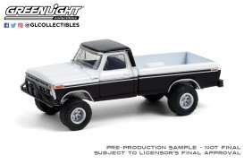 Ford  - F-250  1976 black/white - 1:64 - GreenLight - 35190B - gl35190B | Toms Modelautos