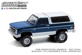 GMC  - Jimmy Sierra 1987 dark blue/white - 1:64 - GreenLight - 35190C - gl35190C | Toms Modelautos