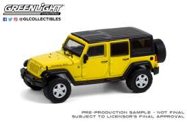 Jeep  - Wrangler Unlimited Rubicon 2008 yellow - 1:64 - GreenLight - 35190E - gl35190E | Toms Modelautos