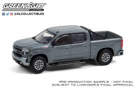 Chevrolet  - Silverado RST 2020 satin steel metallic - 1:64 - GreenLight - 35190F - gl35190F | Toms Modelautos