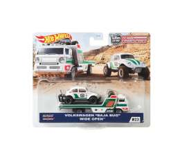 Volkswagen  - Baja Bug & Wide Open Truck white/green/red - 1:64 - Hotwheels - GJT44 - hwmvGJT44 | Toms Modelautos