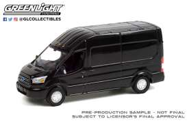 Ford  - Transit LWB 2015 black - 1:64 - GreenLight - 53030C - gl53030C | Toms Modelautos