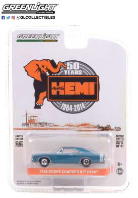 Dodge  - Charger Super Bee 426 Hemi 2014 blue - 1:64 - GreenLight - 28060E - gl28060E | Toms Modelautos